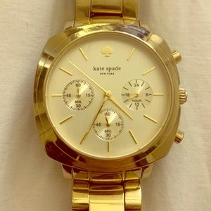 Kate Spade Gold Chronograph Watch